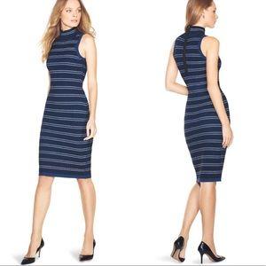 NWT WHBM Striped Sleeveless Sweater Sheath Dress